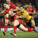 Wales start winger North at centre for Wallabies