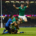 Ireland beat France and avoid All Blacks in Qtrs