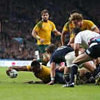 Australia snatch late Qtr final victory over Scotland